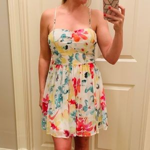 JACK by BB Dakota Floral Chiffon Dress